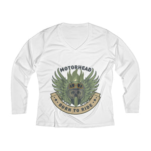 Born to ride Women's Long Sleeve Performance V-neck Tee