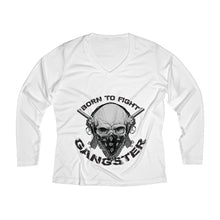 Load image into Gallery viewer, GangWomen's Long Sleeve Performance V-neck Tee