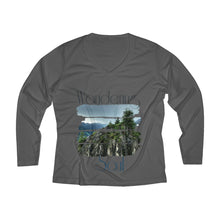 Load image into Gallery viewer, Wandering soul Women's Long Sleeve Performance V-neck Tee