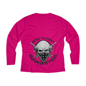 GangWomen's Long Sleeve Performance V-neck Tee