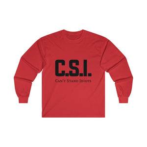 CSI men Ultra Cotton Long Sleeve Tee