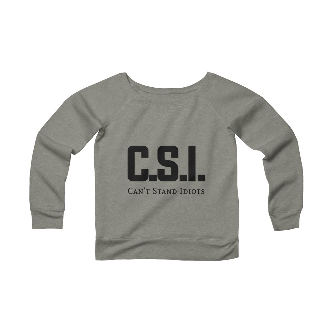 CSI Women's Sponge Fleece Wide Neck Sweatshirt