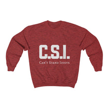 Load image into Gallery viewer, CSI White font Unisex Heavy Blend™ Crewneck Sweatshirt