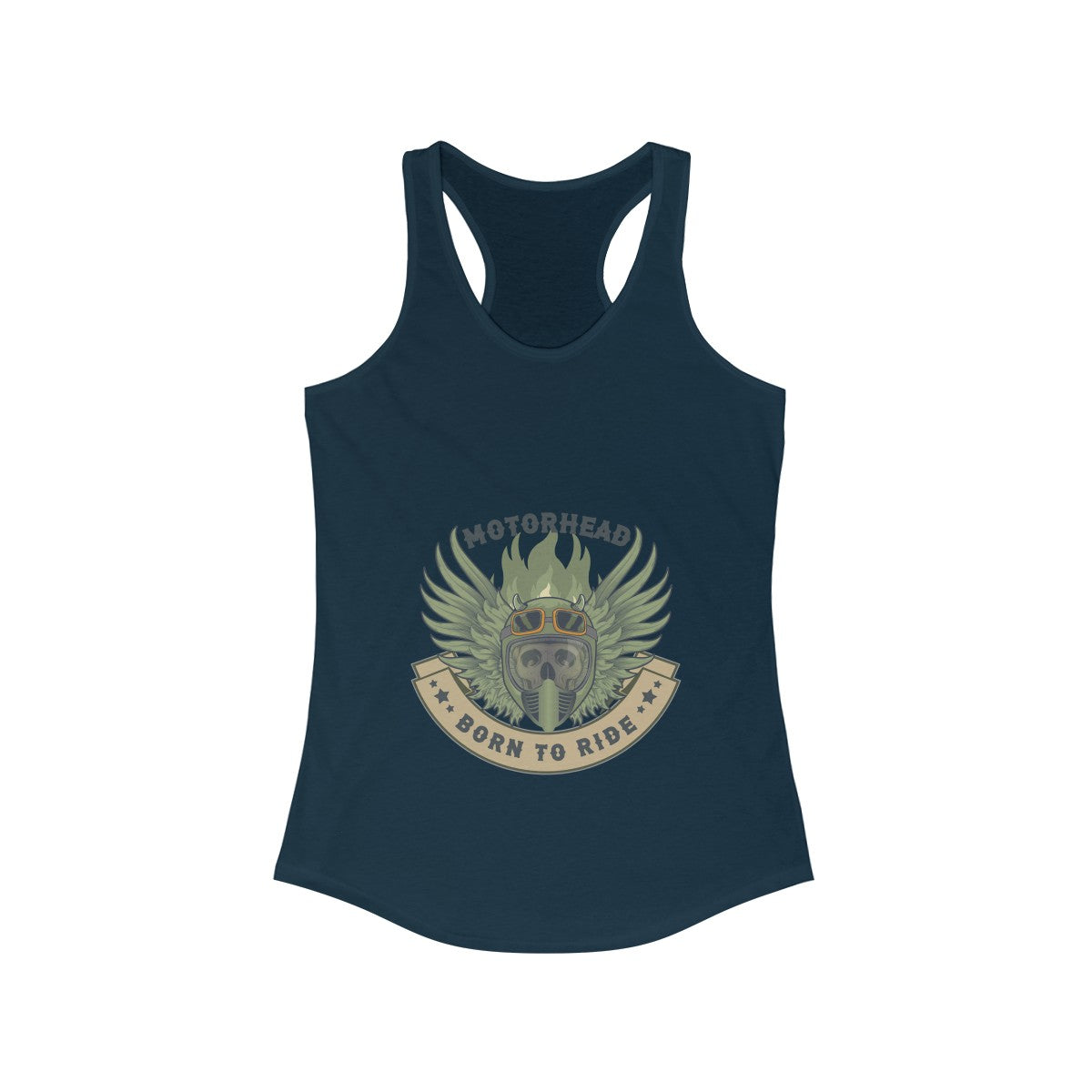 Born to ride Women's Ideal Racerback Tank