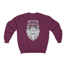 Load image into Gallery viewer, Motorcycle back Unisex Heavy Blend™ Crewneck Sweatshirt