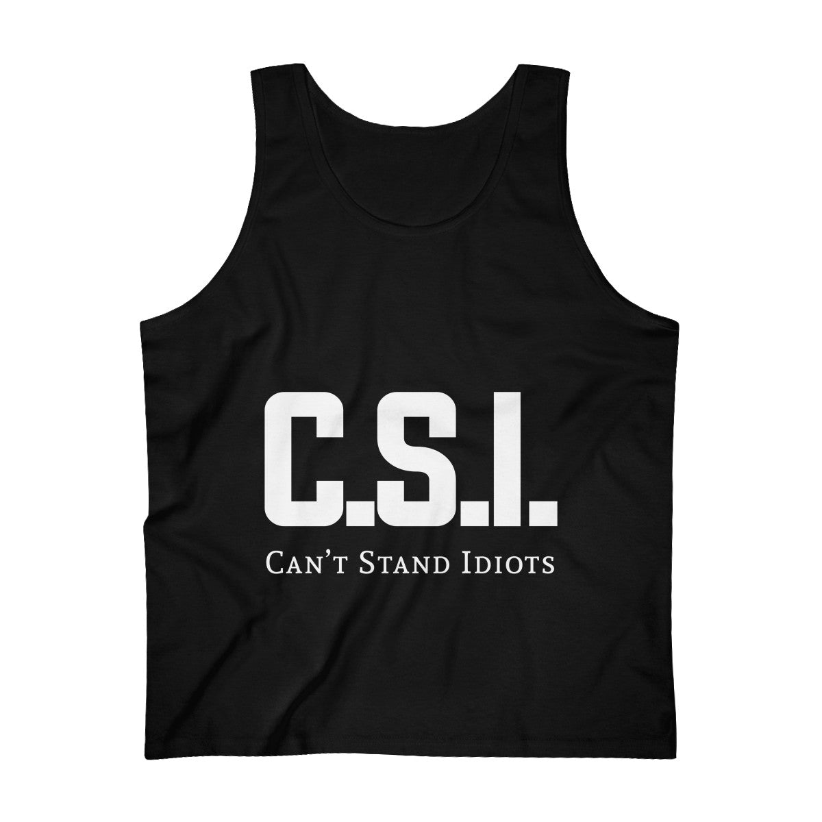 CSI white font Men's Ultra Cotton Tank Top