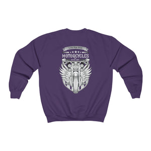 Motorcycle back Unisex Heavy Blend™ Crewneck Sweatshirt