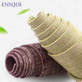 ENNJOI Linen + PVC Premium Yoga Mats  5mm Thickness Tasteless Non-slip Yoga Mat Lose Weight Body Building Exercise Pilates Pad