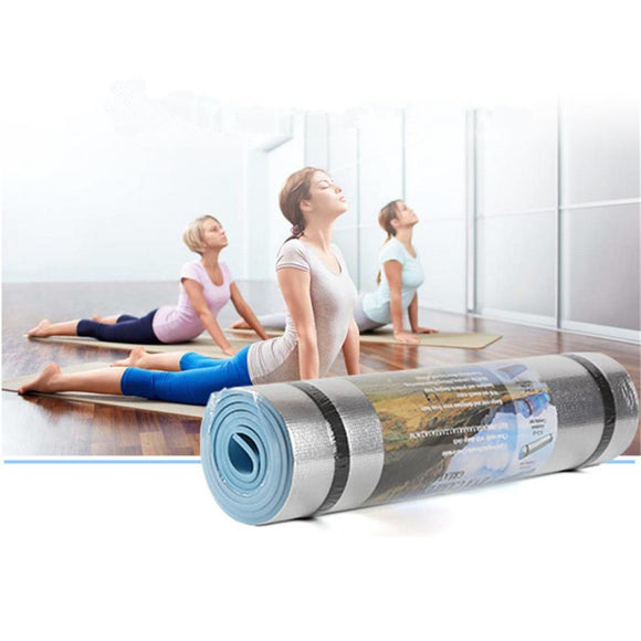 Sport Yoga Mat Aluminum Film Moisture-proof Yoga Mats Workout Exercise Gym Fitness Pilates Pad Shaping Tool
