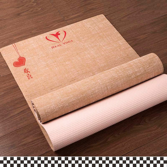 natural jute yoga mat free shipping and durable carry strap