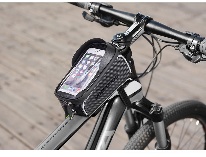 Bicycle Bag Front Top Frame Tube Touch Screen Phone Mountain Bike Accessories
