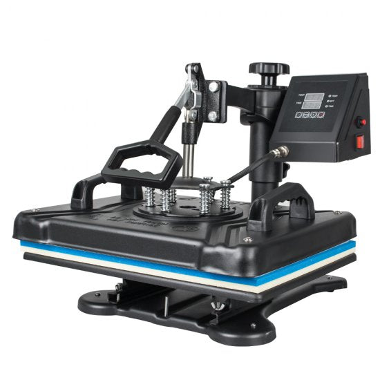 5-in-1 360-degree rotating dual-display heat press swinging digital sublimation T-shirt