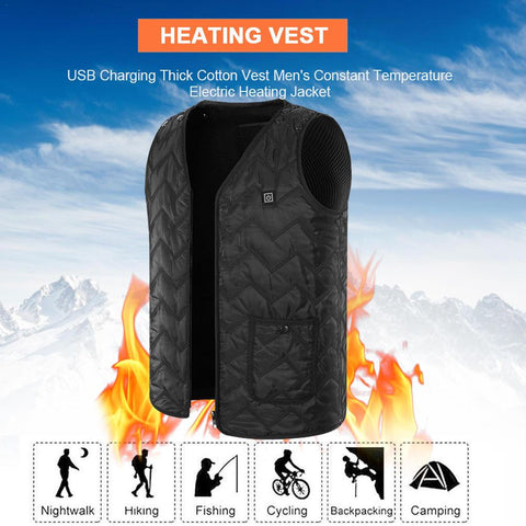 Electric Vest Heated Washable Jacket Clothes