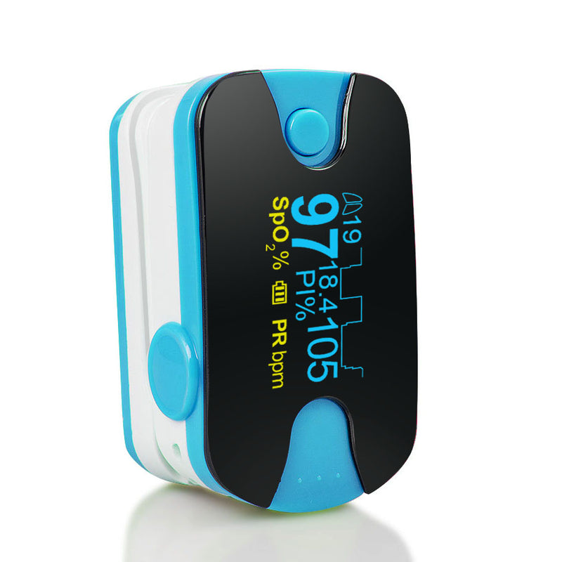 Color OLED Finger Pulse Oximeter Respiration Rate & Respiratory Waveform Monitor