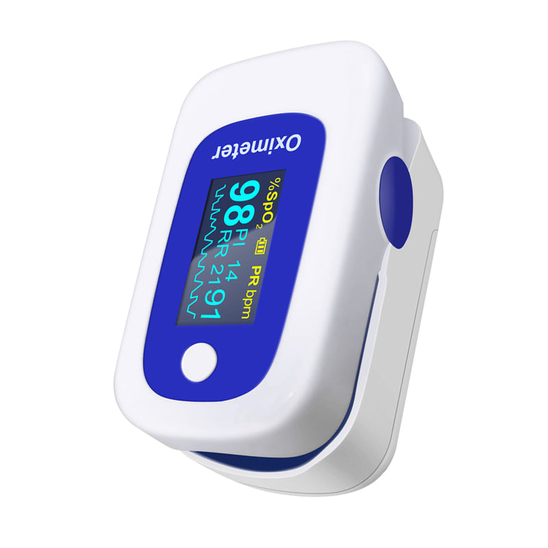 Color OLED Fingertip Pulse Oximeter with Audio Alarm & Pulse Sound
