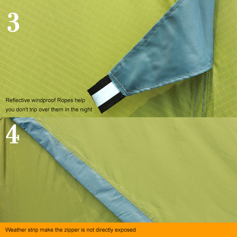 4-season Waterproof Dome Backpacking Double Resident Tent For Camping Hiking Travel Climbing Double Layer With Skirt