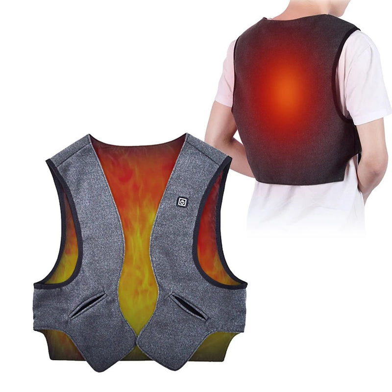 Electric Warming Jacket Temperature Adjustable Heated Washable Vest