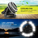 Portable LED Camping Lantern with Ceiling Fan - Hurricane Emergency Survival Kit
