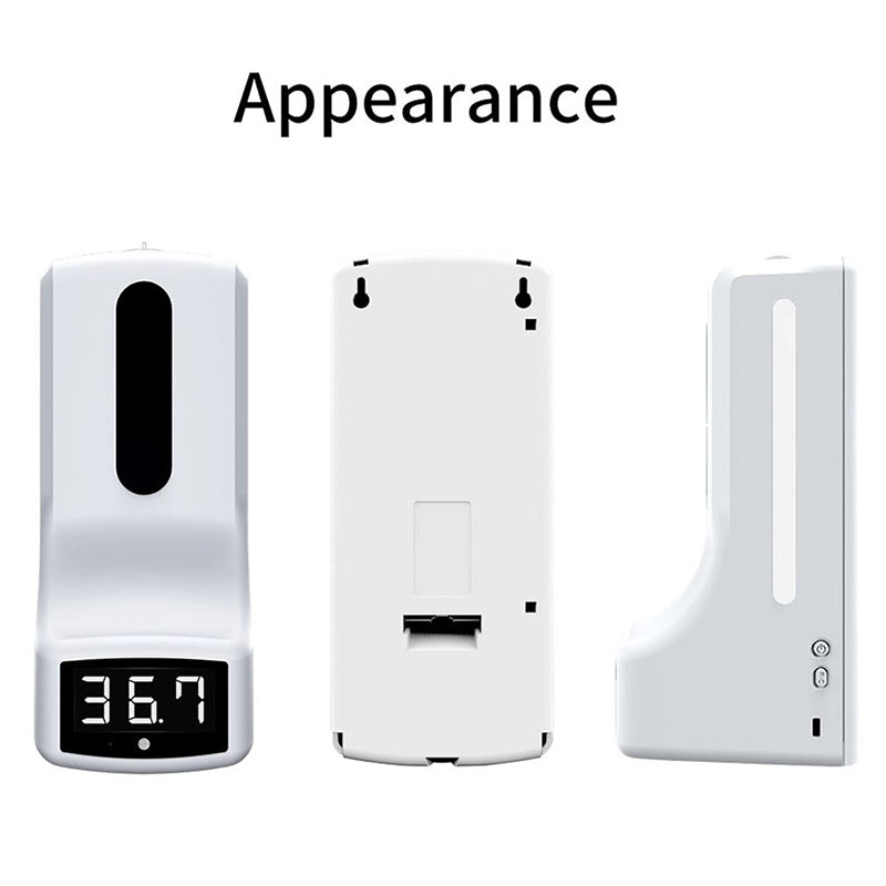 Wall-Mounted Infrared Thermometer Soap Dispenser