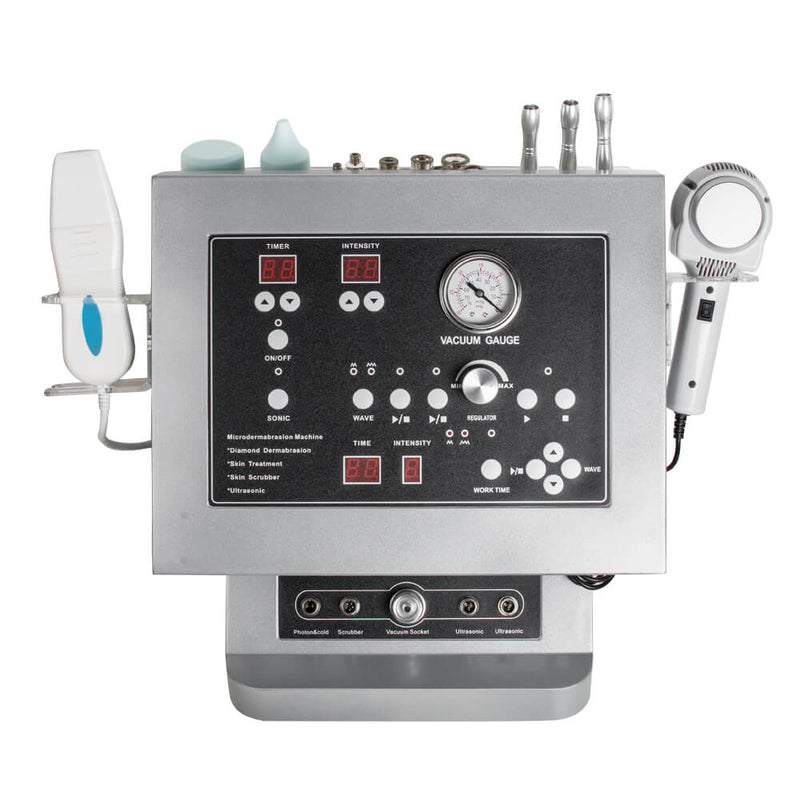 4 in 1 Diamond dermabrasion microdermabrasion ultrasonic hot cold hammer machine