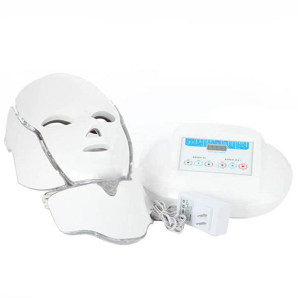 3 Color Photon LED Infrared Facial Neck Mask Skin Microcurrent Massager Rejuvenation Anti-Aging Beauty Therapy