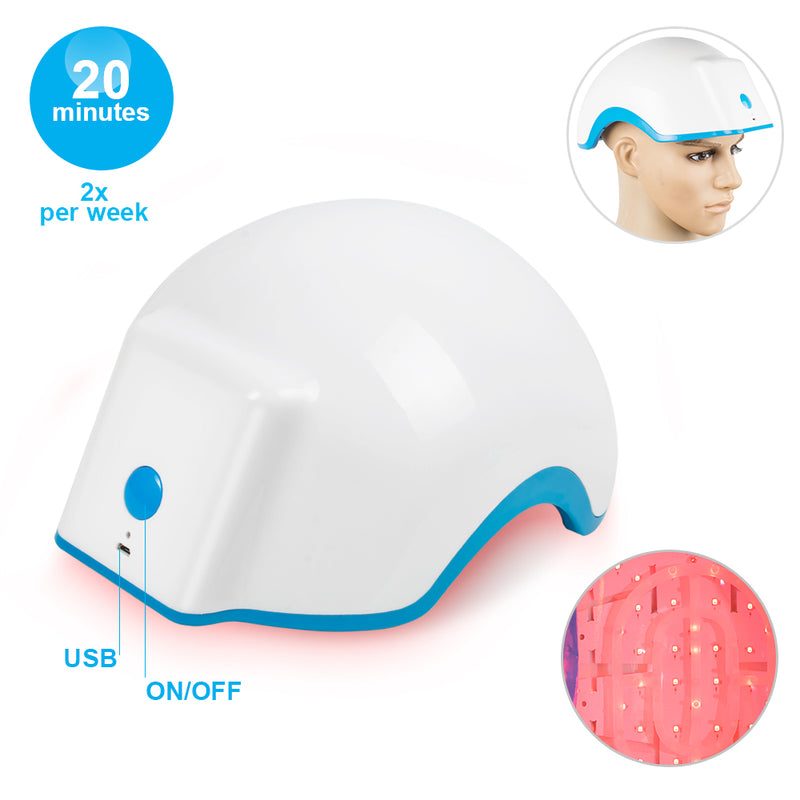 Hair Growth Helmet Device Hair Loss Promote Laser Cap
