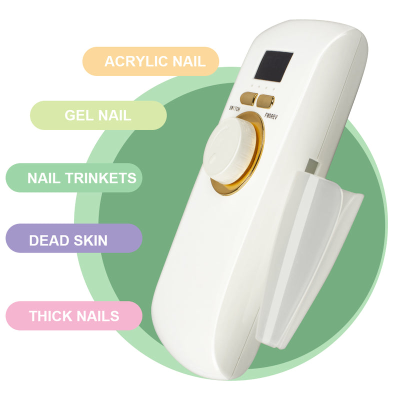 Portable Rechargeable Electric Nail File Drill Machine Manicure