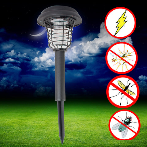Summer UV LED Solar Powered Outdoor Yard Garden Lawn Anti Mosquito Insect Pest Bug Zapper Killer Trapping Lantern Lamp Light