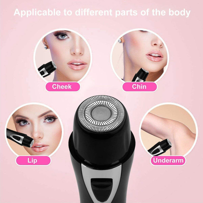 2 in 1 USB Rechargeable Women's Hair Remover Nose & Facial Trimmer