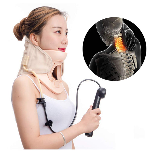 Cervical Collar Air Traction Neck Brace Support Massager Release Therapy