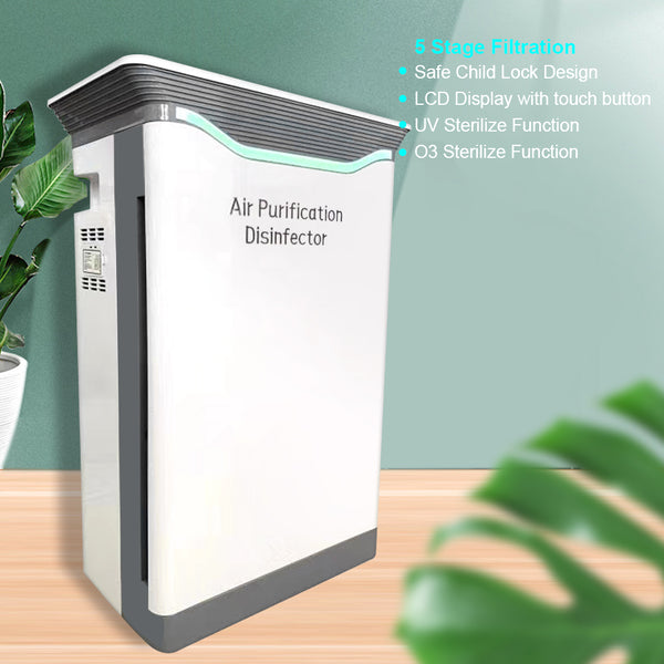 Air Purifier Cleaner Filtration System with UV /O3 Sterilize Function