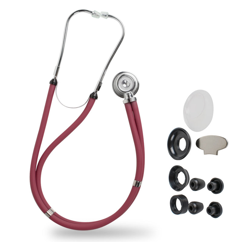 Medical Stethoscope Professional Multifunctional Long Soft Tube Double Dual Head Stethoscope