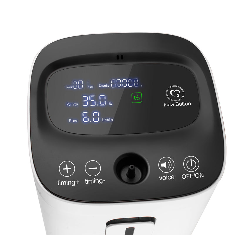 Touch Screen 1-6L/min Adjustable Oxygen Concentrator