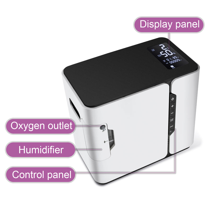 110V Adjustable 1-5L/min Home Oxygen Concentrator With Anion Function