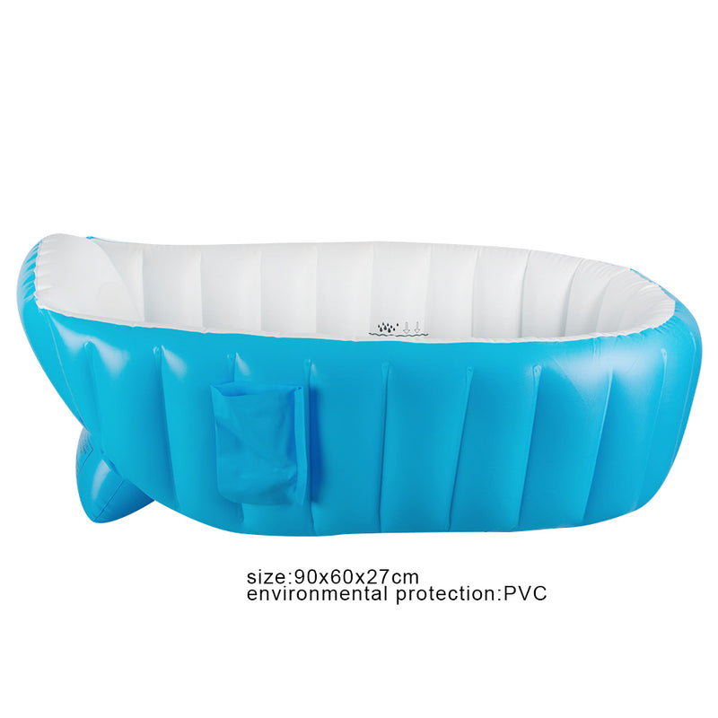 Inflatable Baby Bathtub Cartoon Safety Inflating Bath Tub for Toddlers Kid