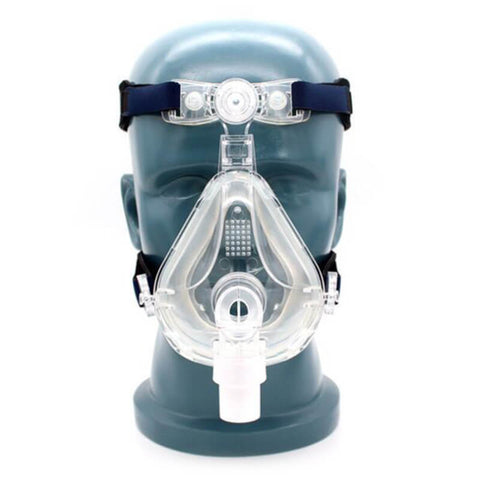 CPAP Full Face Mask for Sleep Apnea Snoring With Adjustable Strap Clips