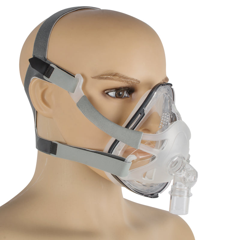 Full Face Mask For CPAP Machine Snoring And Sleep Therapy Connect Face Hose With Adjustable Headgear Clips