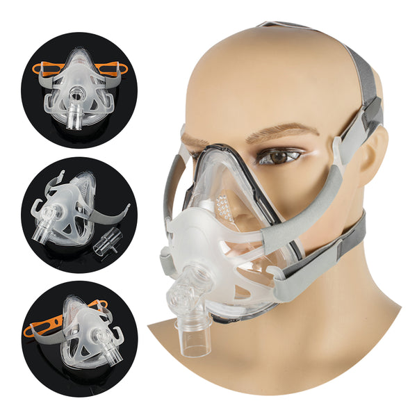 Full Face CPAP Mask For CPAP Machine Snoring And Sleep Therapy Connect Face Hose