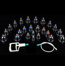24 Cups Cupping Set Medical Chinese Vacuum Therapy Stress Relief Body Cupping Slimming Massage Therapy Healthy Suction Set