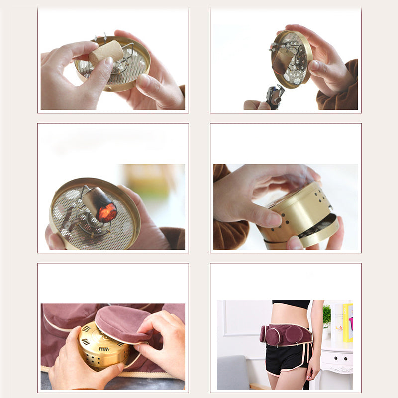 Detachable Moxibustion massage  Smokeless moxibustion treatment for body leg abdomen neck massage