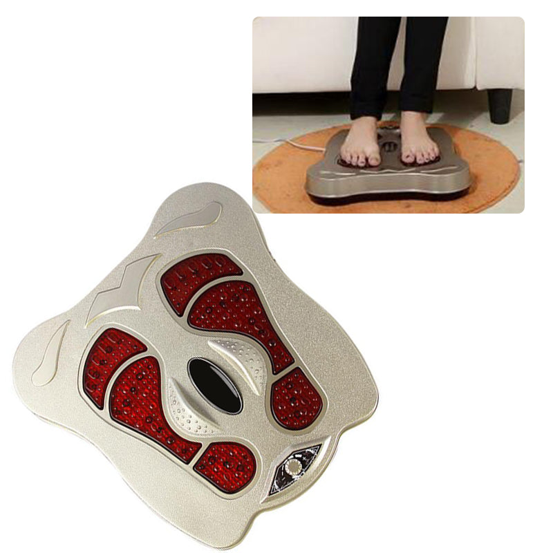 Multi-function electromagnetic wave foot massage instrument