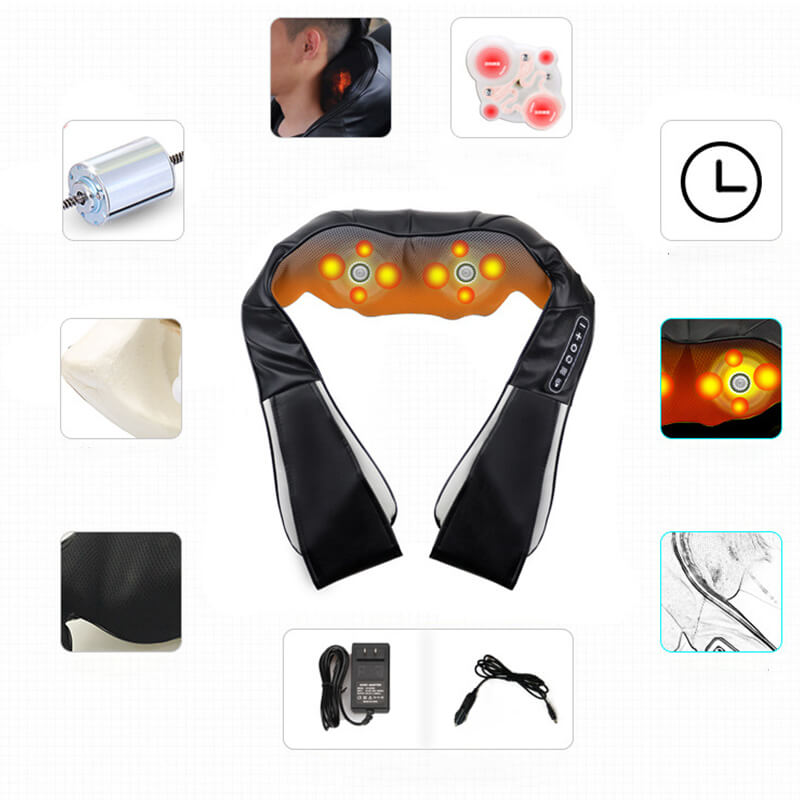 Electric Massage Kneading Heating Infrared Therapy 4D Shoulder Neck Back Waist