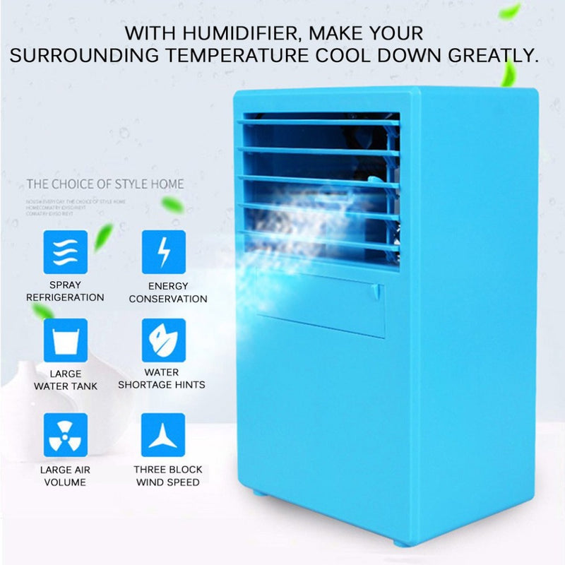 Mini Portable Air Conditioner Fan Air Cooler Circulator Humidifier