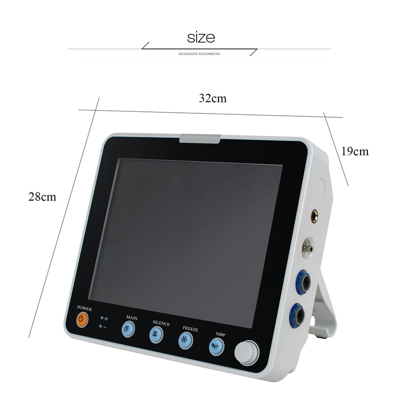 8 Inch Multi-parameter Monitor ICU CCU Vital Sign Dental Patient Monitor