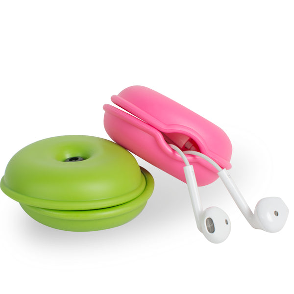 5 pcs mini multi-color turtle reel headphone storage box