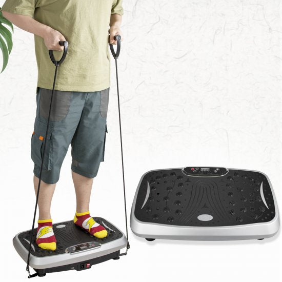 Whole Body Vibration Plate Exercise Machine with Bluetooth + Remote control + Resistance Bands