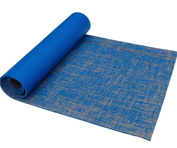Ocean blue, sustainable hemp and jute yoga mat