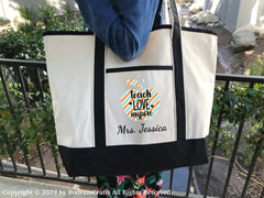Teacher Canvas Tote Bags Personalized