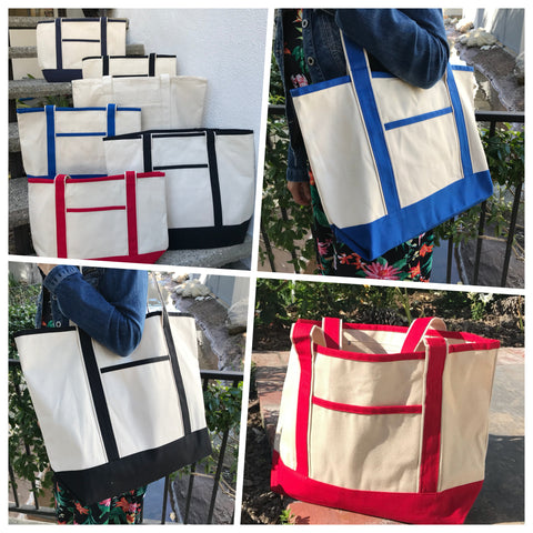 Wholesale canvas cotton tote bags in bulk