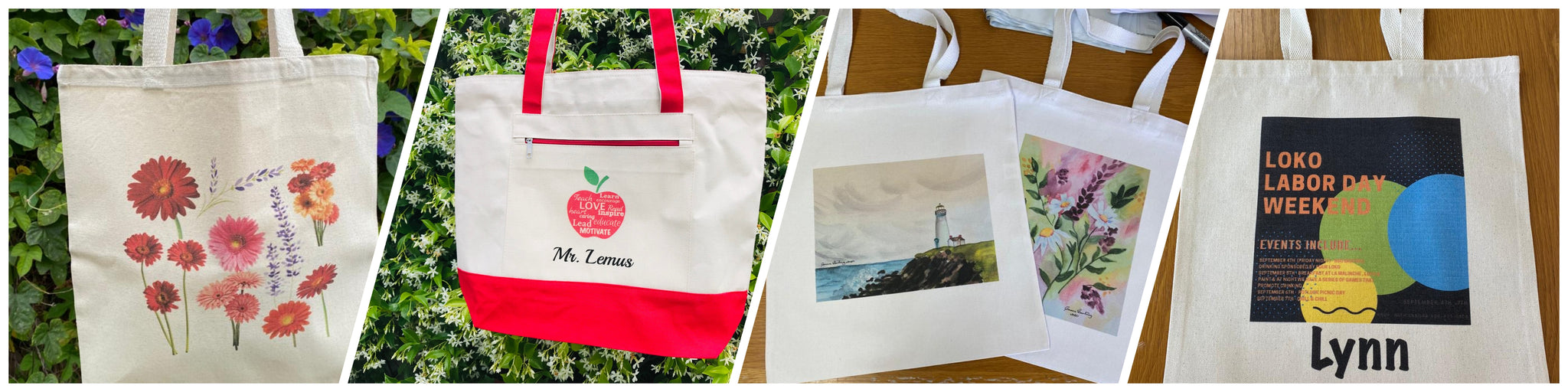 CUSTOM PERSONALIZED WHOLESALE CANVAS COTTON TOTE BAGS IN BULK